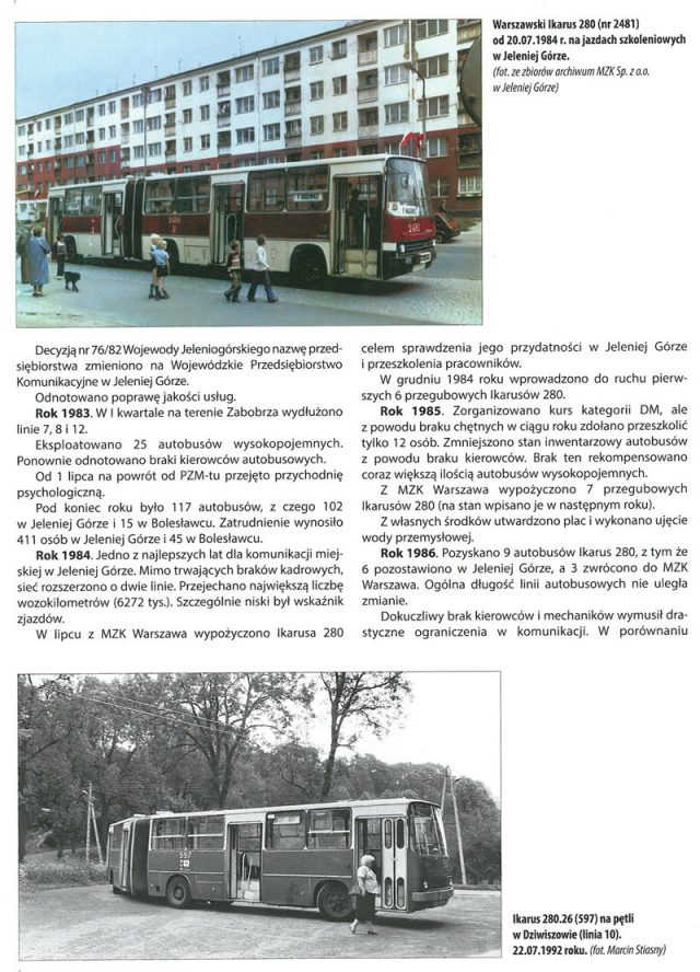 Autobusy Miejskie w Jeleniej Górze 1961-2017
